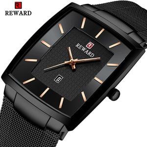 Image 1 - New Fashion Square Men Wristwatch Ultra thin Luminous Date Men WristWatch Top Brand Luxury Waterproof Male Watch Dropshipping