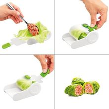 Creative Vegetable Meat Rolling Tool Sushi Onigiri Maker Stuffed Leaf Machine F1CA