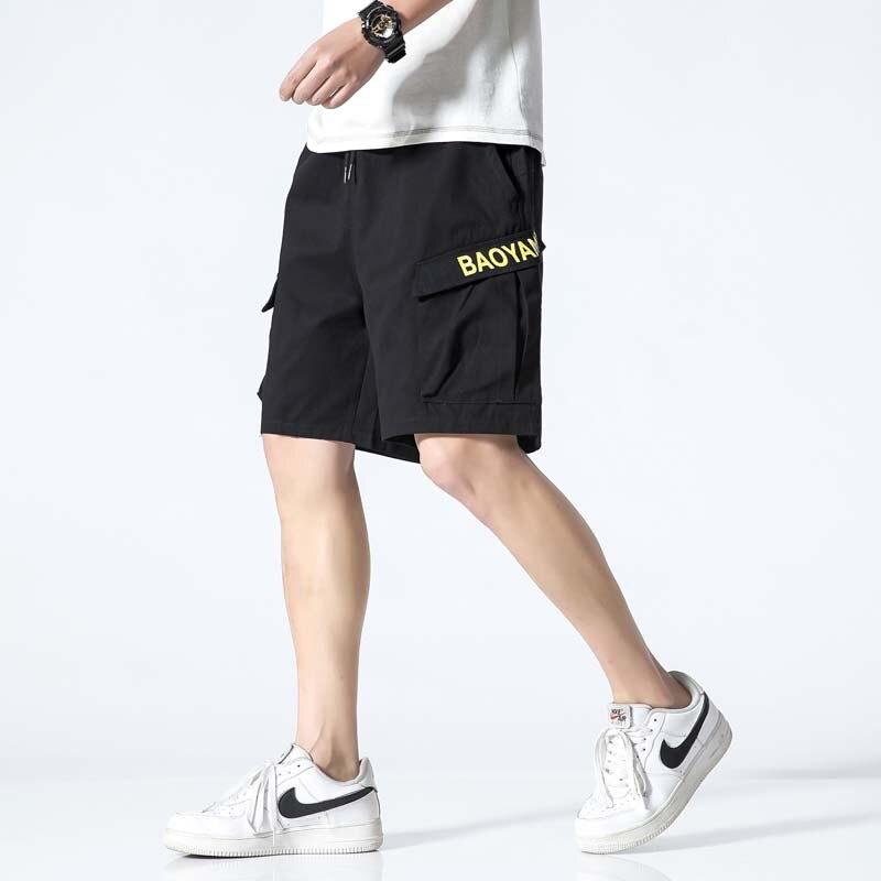 Mens Summer Sport Shorts Man Cotton Sweat Cargo Short Pans 5XL Men's Joggers Short Sweatpants Clothes Male