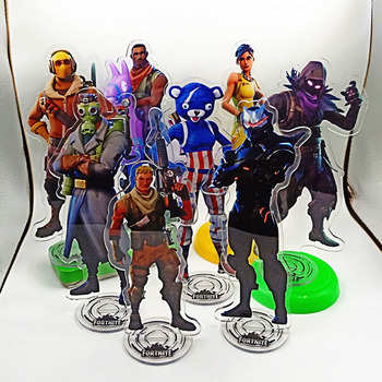 21cm Fortnite Game Anime Figure Model Card Acrylic Material Peripheral Toys Children Gift Player Collection Ornament Decoration 2
