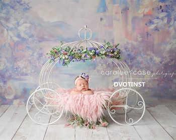 Dvotinst Newborn Photography Props Baby Iron Princess Cinderella Carriage Prop Posing Pumpkin Car Poser Fotografia Photo Props - DISCOUNT ITEM  22% OFF All Category