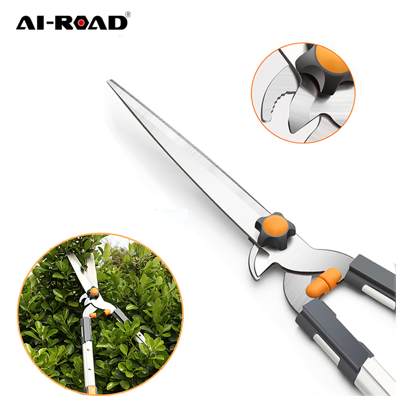 AI-ROAD New Non-Slip Garden Tree Pruning Shears Sharp Gardening Scissor Branches Flower Trimmer Cutter Fruit Knife Picker Tool