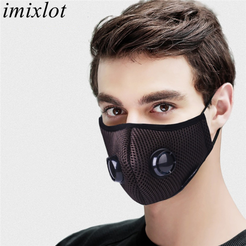 Imixlot PM2.5 Anti Dust Breathable Warm Mouth Mask Double Activated Carbon Filter Respirator Unisex Proof Flu Face Masks