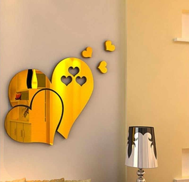 Kreatywna miłość serca 3D lustro naklejka ścienna naklejka DIY strona główna sztuka do salonu ozdoba na ścianę zdejmowana łazienka dekoracja wnętrz Dec 3r