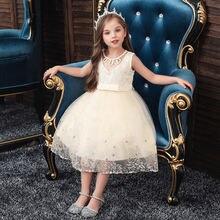 Детское летнее платье с вышивкой Цветочное для девочек