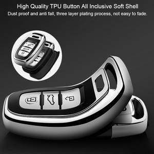 Image 2 - Wysokiej jakości TPU Chrome obudowa kluczyka do samochodu pokrywa torba pasuje do Audi Q5 A4 A5 A6 A7 A8 S5 S6 S7 S8 obudowa kluczyka Protector Auto breloczki