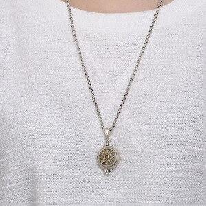 Image 5 - Prawdziwe 925 srebro słonecznik wisiorek medalion Vintage otwierane Shurangama Mantra wisiorki dla kobiet 2018 nowości