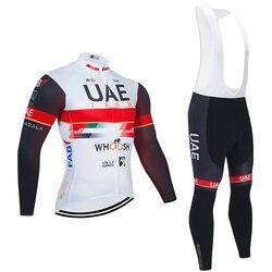 2020 E9L4U New Cycling Winter Thermal Fleece Tights long sleeve jersey Bib Pants