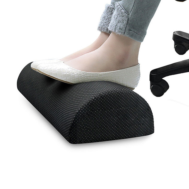 New Office Body Foot Rest Cushion Under Desk Foot Rest Pillow Solid Foam Cushion Memory Foam Knee Cushion Non-Slip Washable