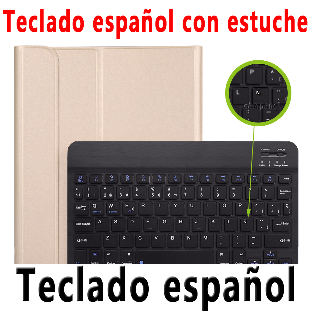 Spanish Keyboard Clear For iPad Pro 11 2020 2018 Keyboard Case with Pencil Holder Keyboard for Apple iPad Pro
