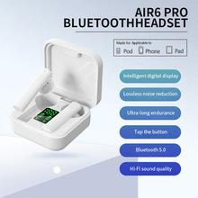 Beliebte Air6pro Bluetooth Headset Wireless Binaural Mini Headset TWS Bluetooth Halb-Ohr Headset cheap