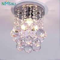 Lustre en cristal avec couvercle, Mini goutte de pluie moderne, petit Lustre en cristal, K9, cadre en acier inoxydable, 16cm, H23cm