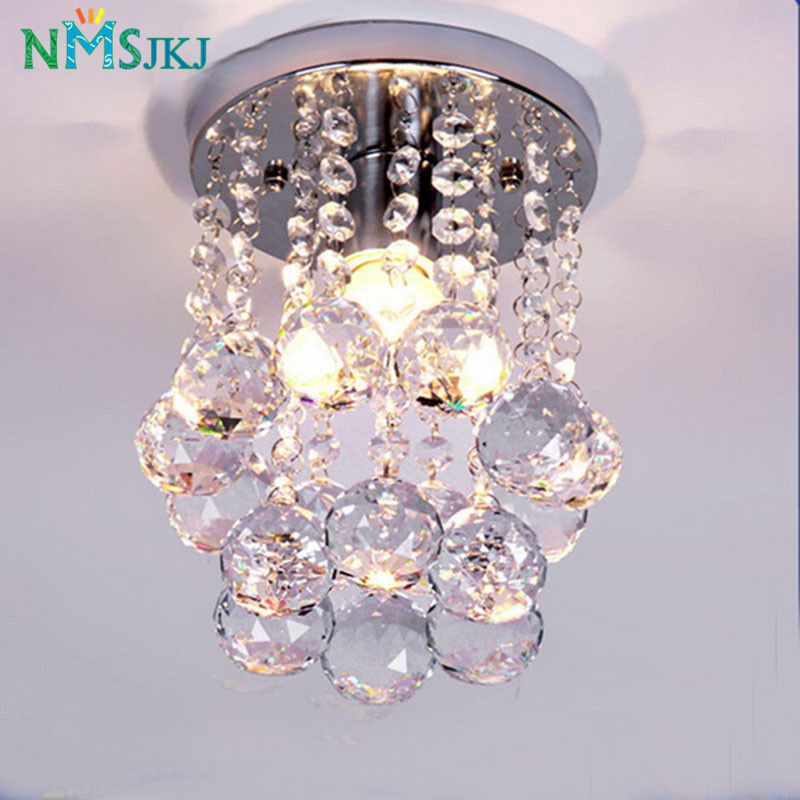 Modern Mini Rain Drop Small Crystal Chandelier Lustre Light With Top K9 Stainless Steel FrameD16cm H23cm