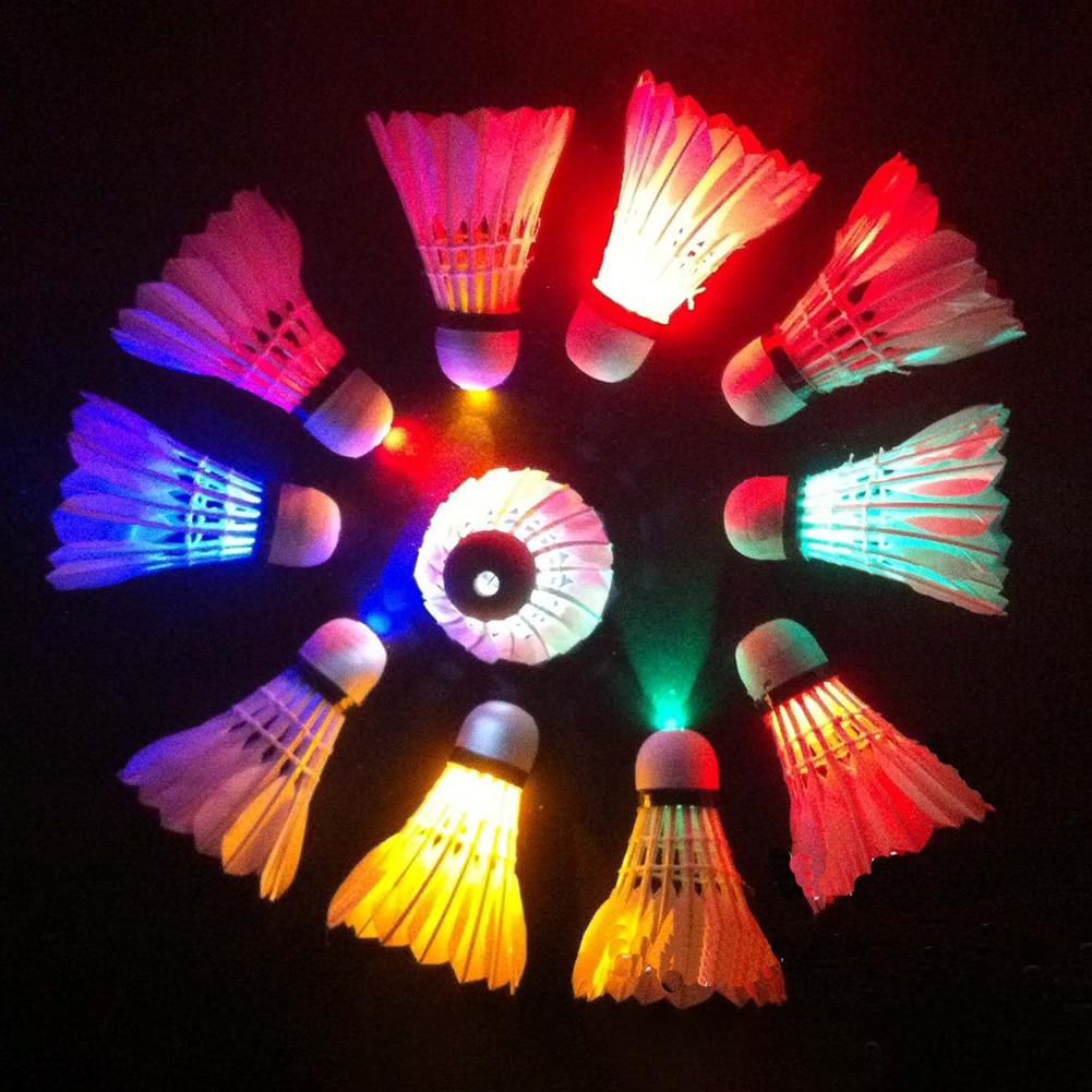 1PC Lamps Badminton Dark Night Colorful LED Lights Sport Badminton Light Spot Shuttlecock