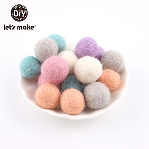 Image 4 - 100PCS 20mm 100% Wool Felt Balls DIY Balls Hanging Accessories Candy Color Wool Ball For Kids Room Decoration Nursery Home Decor