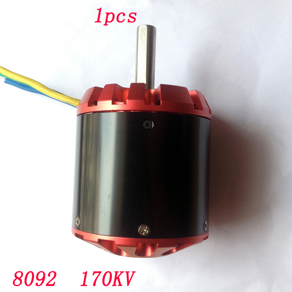 1pcs 8092 <font><b>170KV</b></font> Sensorless/Sensored Brushless <font><b>Motor</b></font> 6-14S High-power Large Torque for RC Fixed-wing Airplane Electric Skateboard image