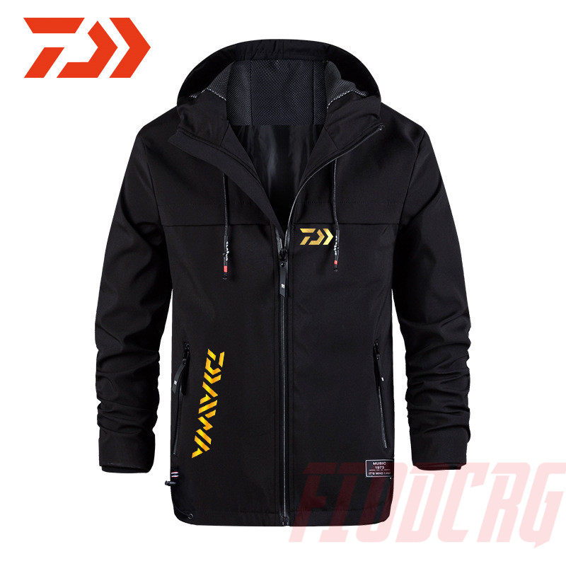 Daiwa Autumn Fishing Jacket Hooded Quick-Dry Anti-mosquito Long Sleeve Cycling Hiking Jackets Fishing Clothing Climbing Jersey