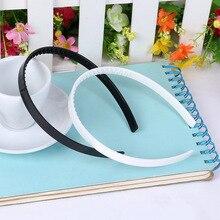 DIY Детская повязка ABS 10 мм 15 мм девушка шаг зуб пластик полуфабрикаты волос зубчатые пластиковые головы пряжки белый черный