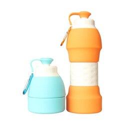Outdoor Travel wspinaczka górska butelka wody kreatywna przenośna składana butelka towar żel krzemionkowy butelki sportowe prezent|Butelki sportowe|   -