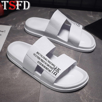 Letnie jasne miękkie kapcie mężczyźni młodzież eleganckie wygodne kapcie wysokiej mody męskie kapcie klasyczne marki płaskie męskie buty Y20 tanie i dobre opinie TSFD CN (pochodzenie) Poza RUBBER Mieszkanie (≤1cm) Pasuje prawda na wymiar weź swój normalny rozmiar Podstawowe Totem