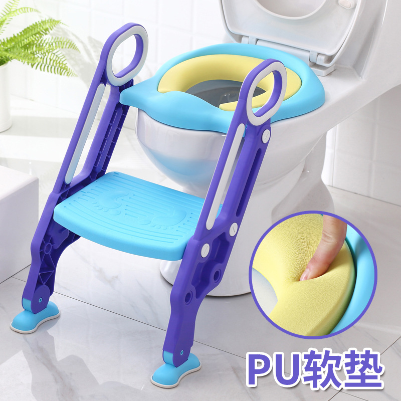 Toilet For Kids Baby Girls Kids Boy Sit Washer GIRL'S Toilet Ti Yi Foldable Staircase Style Ma Tong Jia