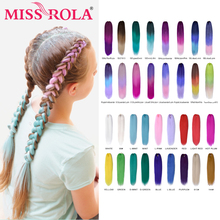 Miss Rola 24 Inches100g Yaki Straight Synthetic Hair Extension Pre Stretched Crochet Jumbo Braids Kanekalon Hair Braiding cheap 1strands pack Ombre 89 colors Synthetic High Temperature Fiber Pre-scretched Braids