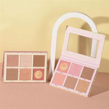 New Contour Palette Face Shading Grooming Powder Makeup 6 Colors Long-Lasting Face Make Up Contouring Bronzer Cosmetics недорого