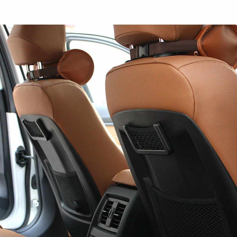 Untuk BMW E46 E90 E39 E60 E36 F10 F30 X3 X1 X5 E53 E70 Kursi Mobil Kembali Bagasi Tas Jaring pemegang Telepon Mesh Kantong Penyelenggara Bagasi Bersih