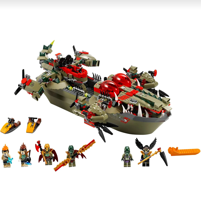 Cragger's Command Ship 70006 Building Blocks Model Toys For Children BELA 10061 Compatible LogoINGly Chimaed Bricks Figure Set