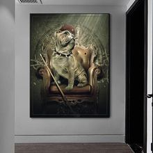 Художественные постеры для курительной сигары и принты животных
