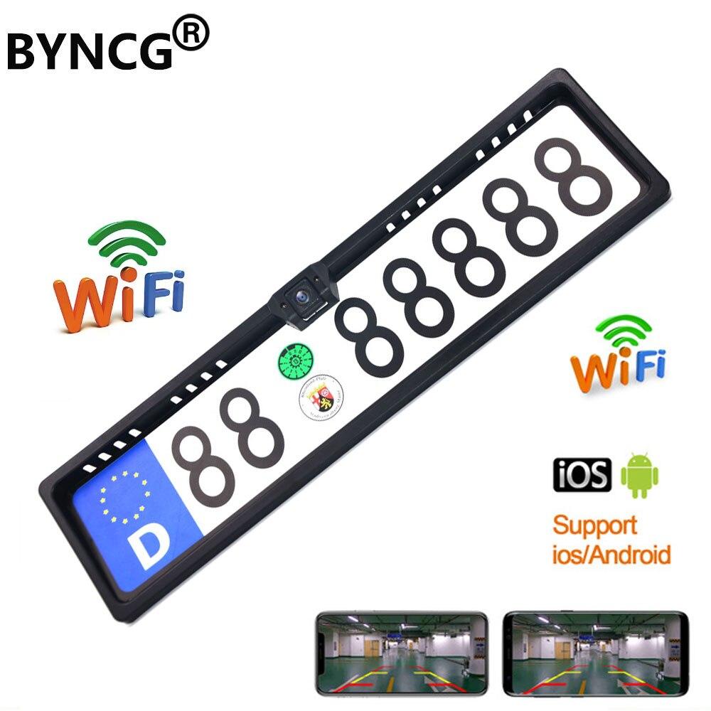 Aggiornamento Mini Wifi HD telecamera posteriore per auto visione notturna veicolo telecamera retromarcia impermeabile Wireless per IOS e Android