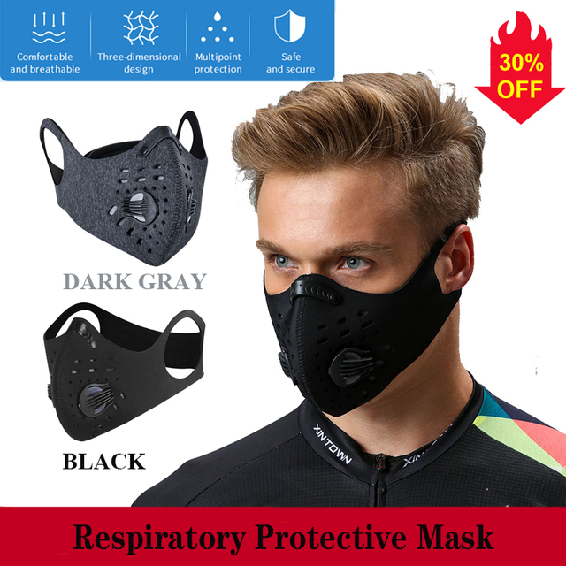 1-10PCS Face masks screensaver masks breathable Reusable Anti Pollution mesh rina activated carbon filter mask facial masks flu 5