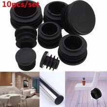 font b Hot b font Selling 10Pcs Black PVC Plastic Furniture Leg Plug Blanking End