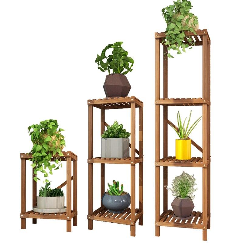 Shelf Household Indoor Single Simplicity A Living Room Wood Shavings Frame Monolayer Landing Type Many Function Flower Rack|Plant Shelves| |  - title=