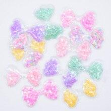 Großhandel 60Pcs 62*36mm Fliege Transparent PVC Glitter Pailletten Appliques für DIY Handwerk Hut Patches Headwear haar Clips Decor L01