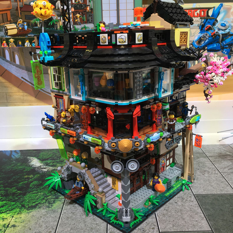 Lepinlys Ninja City Docks Temple Of Airjitzu Destiny's Bounty Model Building Blocks Toys Compatible 70657 70620 70751 70618