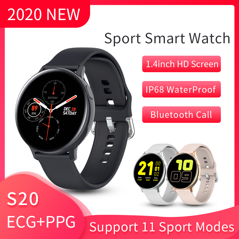 S20 Pro Smart Watch Men Women 2020 Heart Rate ECG PPG Smart Watch Android IOS Smartwatch Ip68 Waterproof Sports Watches For Men