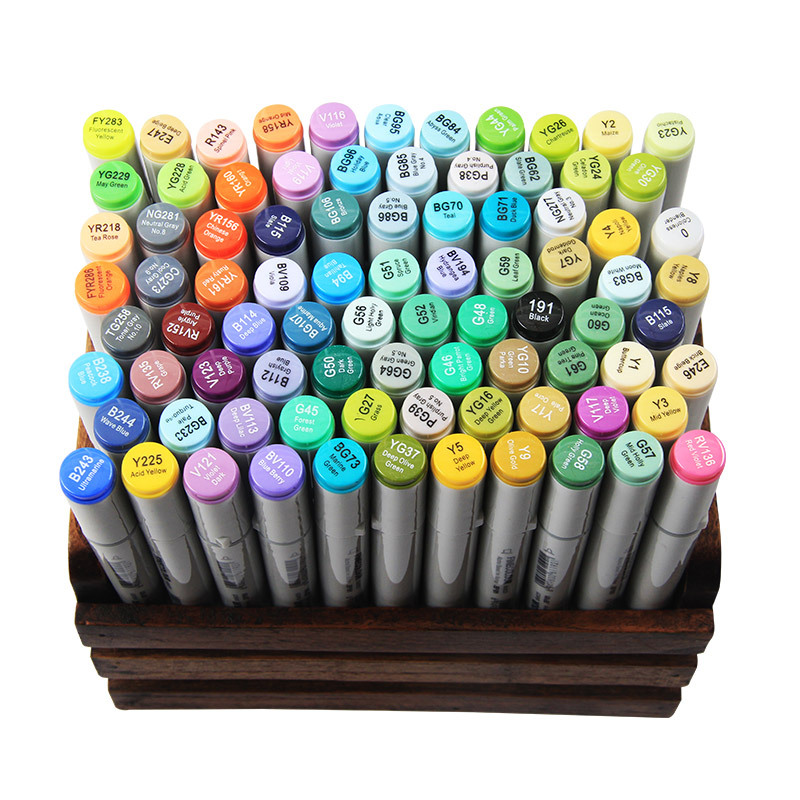 1pc Sketch Color Marker Pen Finecolor Architecture Alcohol Based Art Markers Colors set Manga Marker Drawing image