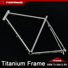 Tiorays Titanium Frame Cyclocross Gravel Touring Bike Bicycle Ti3Al2.5V Custom
