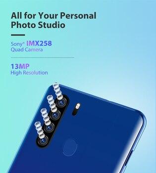 Blackview A80 Plus Mobile Phone Octa Core 4GB RAM+64GB ROM 13MP Quad Rear Camera 6.49 Inch Waterdrop Smartphone 4G Cellphone 2