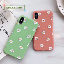 Chrysanthemum Floral Soft TPU Silicone Case for iPhone 6 6S 7 8 Plus 5 5S iPhone 11 Pro X XR XS Max 7Plus 8Plus Cute Cover wood floral soft silicone edge mobile phone cases for apple iphone x 5s se 6 6s plus 7 7plus 8 8plus xr xs max case