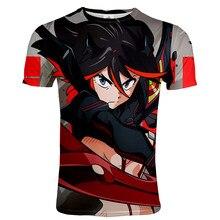 Kill La Kill-Camiseta de Anime para hombre, ropa de calle de manga corta con cuello redondo, estampado 3D, estilo Harajuku y Hip Hop