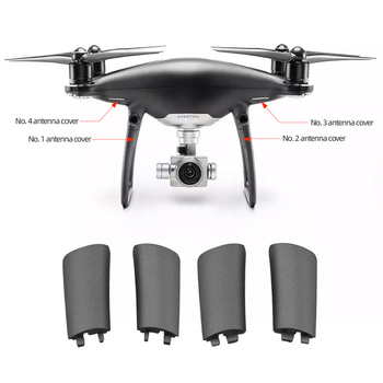 Brand New for DJI Phantom 4 Pro Obsidian Landing Gear Antenna Cover Replacement Legs Cover Cap Repair Parts Accessories image