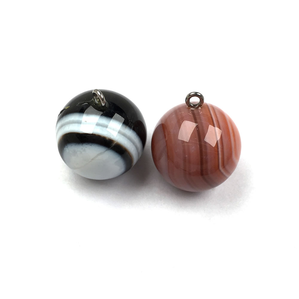 Natural Stone Agates Pendant Round shape Exquisite Pendants charms for Jewelry making DIY Necklaces Accessories size 20x23mm in Charms from Jewelry Accessories