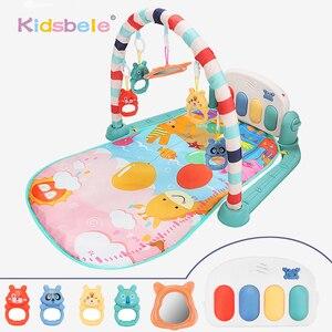 Image 1 - תינוק שטיח תינוק חדר כושר פעילות Playmat מוסיקלי פסנתר רעשנים צעצועי 0 12 חודשים פעוטות זחילה למידה מוקדמת פאזל מחצלת צעצועים
