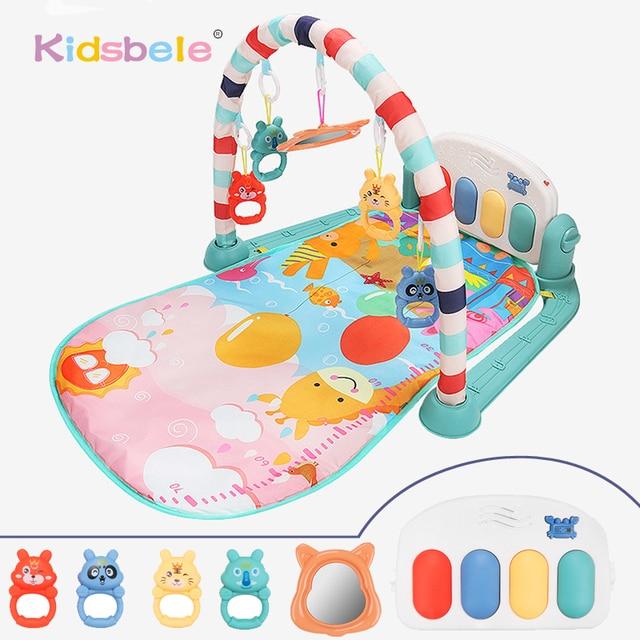 תינוק שטיח תינוק חדר כושר פעילות Playmat מוסיקלי פסנתר רעשנים צעצועי 0 12 חודשים פעוטות זחילה למידה מוקדמת פאזל מחצלת צעצועים