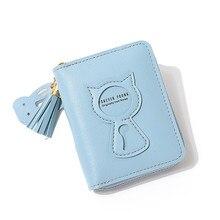 Cute things hot sale new small wallet ladies short  zipper cute cat mini key change women wallets Standard Wallets