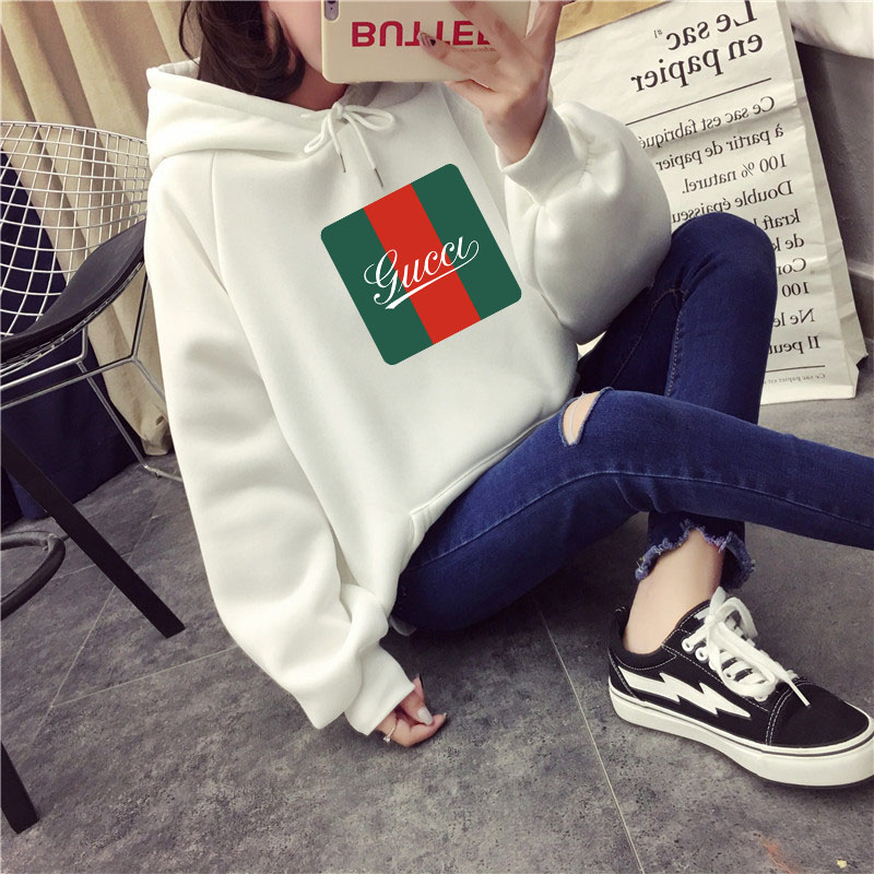 2019 Winter Casual Wool Women Hoodies Sweatshirts Long Sleeve Yellow Girl Female Pullovers Loose Thick Coat Hooded