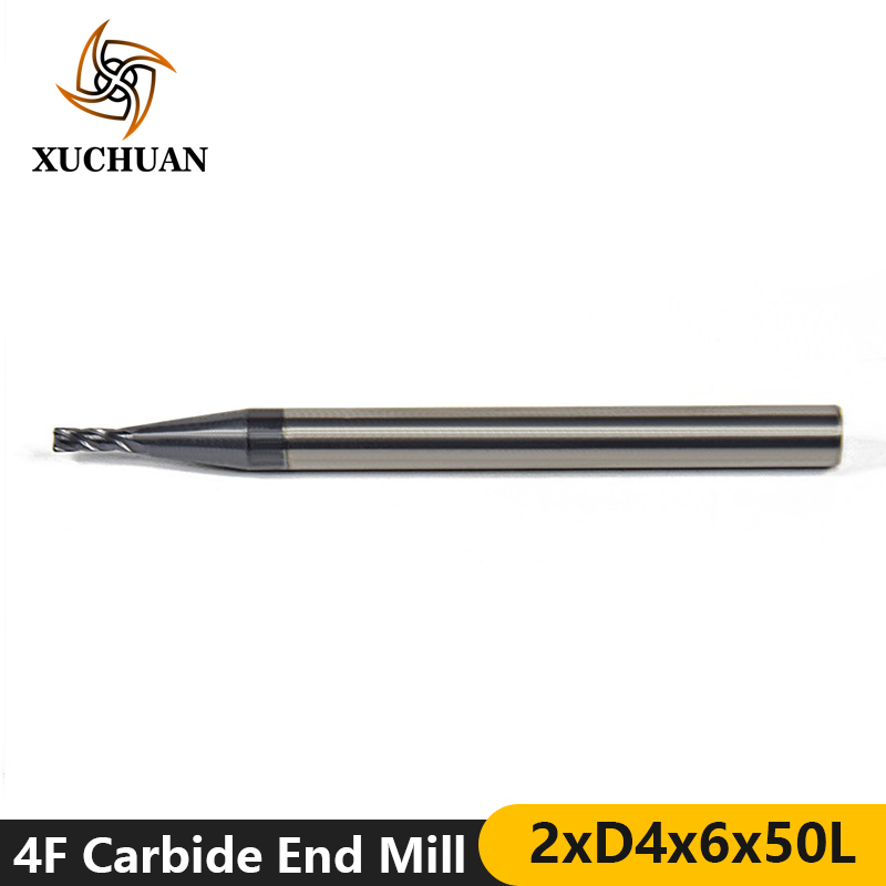 1pc 2mm 45 Degrees Tungsten Steel CNC End Mills Engraving Milling Cutter 4 Flutes Spiral Router Bit