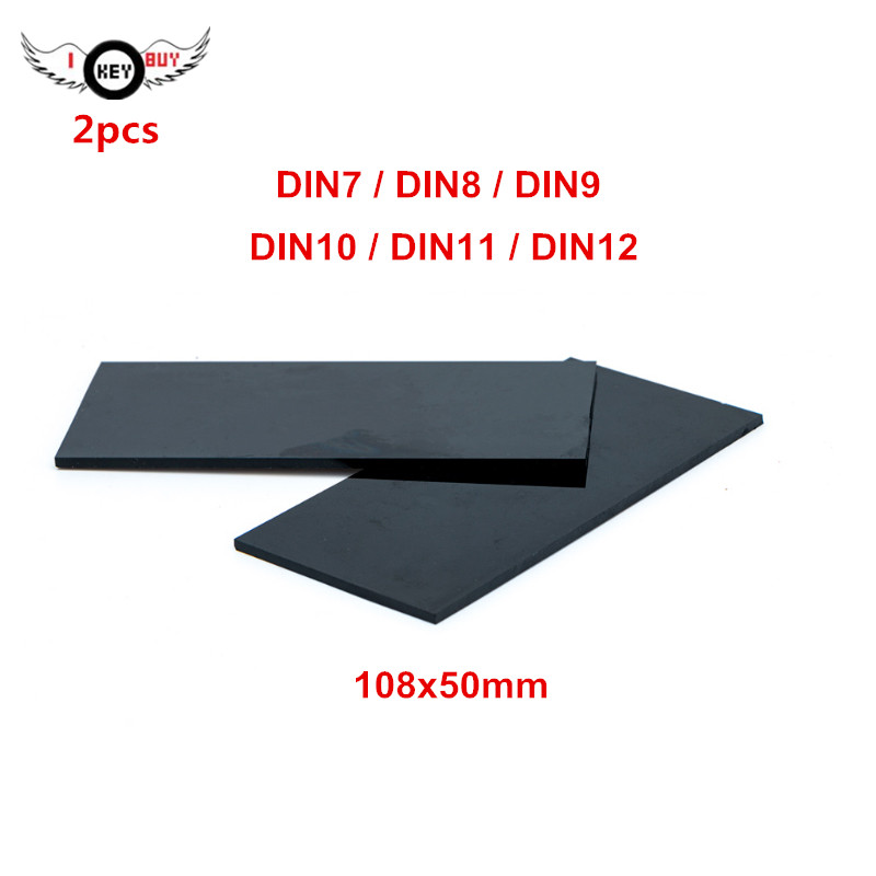 I KEY BUY 2pcs/lot Black / Tansparent Color Glass DIN7 DIN8 DIN9 DIN10 DIN11 DIN12 108x50mm Arc Welding Protection Glass Filter